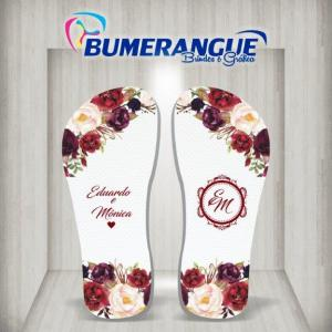 Empresa de chinelos personalizados para casamento